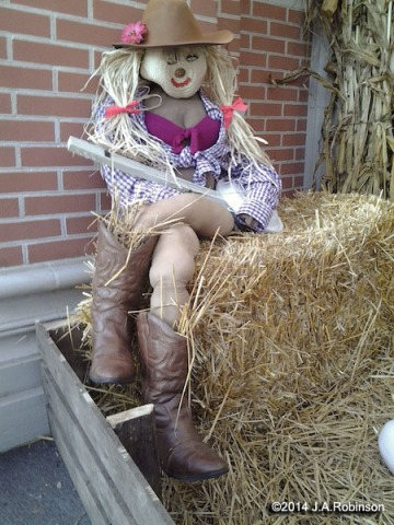 Cowgirl Scarecrow