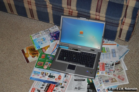 Laptop on Papers