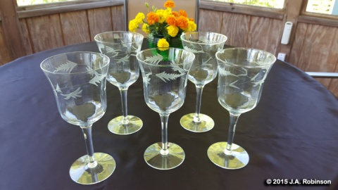 Goblets on Porch