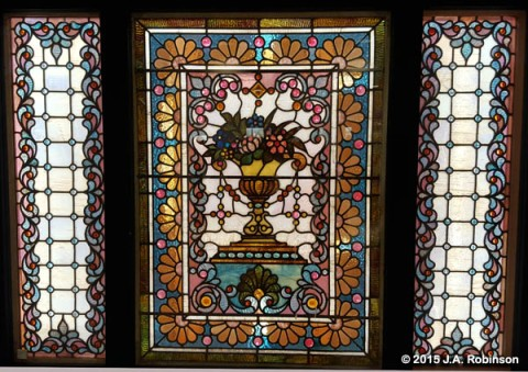 Flower Basket Stained Glass